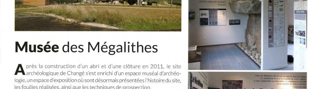 Musée des mégalithes de Changé - Prêt pour la nouvelle saison touristique