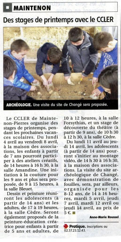 Musée des mégalithes de Changé - CCLER - Echo républicain