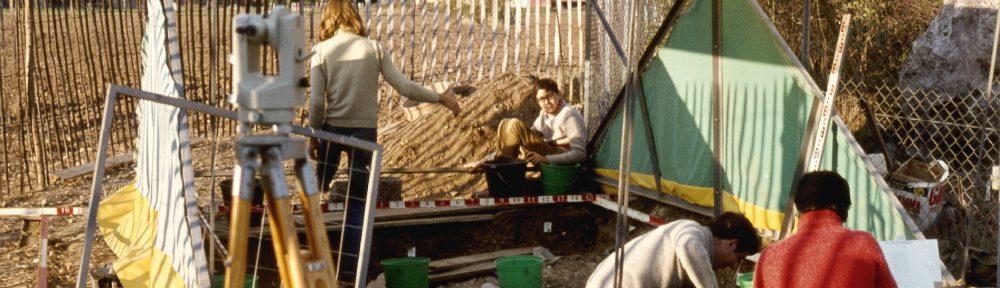 Sondage du site des mégalithes de Changé par Michel Souty en 1974 - fonds D. Jagu