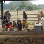 Atelier fouilles pour les jeunes - JEP 2016 - Musée des mégalithes de Changé