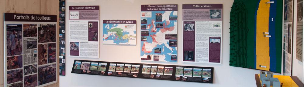 La section sur le Néolithique du Musée des Mégalithes de Changé