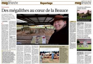 Des mégalithes au coeur de la Beauce - République du Centre - 05 février 2017
